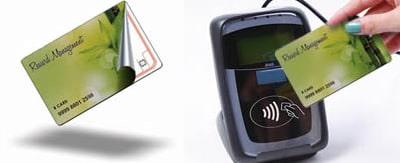 RFID card and reader