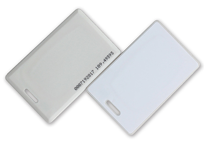 Clamshell proximity card